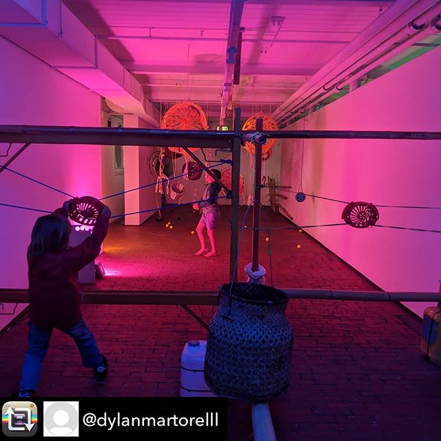 #slowartcollective has installed another Sensory Art Lab at @abbotsfordconvent, on until 20 Jan.  Awesome hands-on games and a bamboo pavilion to chill under.  For kids with adults, free entry 10-2pm daily. - - Repost from @dylanmartorelll using @RepostRegramApp - #slowartcollective is live at the Abbotsford convent / if U know some kids who like the idea of boxing gongs, UV weaving, giant slingshots and hammocks etc head to C3 over the next 20 days between 10-2pm.incredible experience working with bamboo master @ed_horne and our legendary SAC install team @eugenelahoward @matthewmero