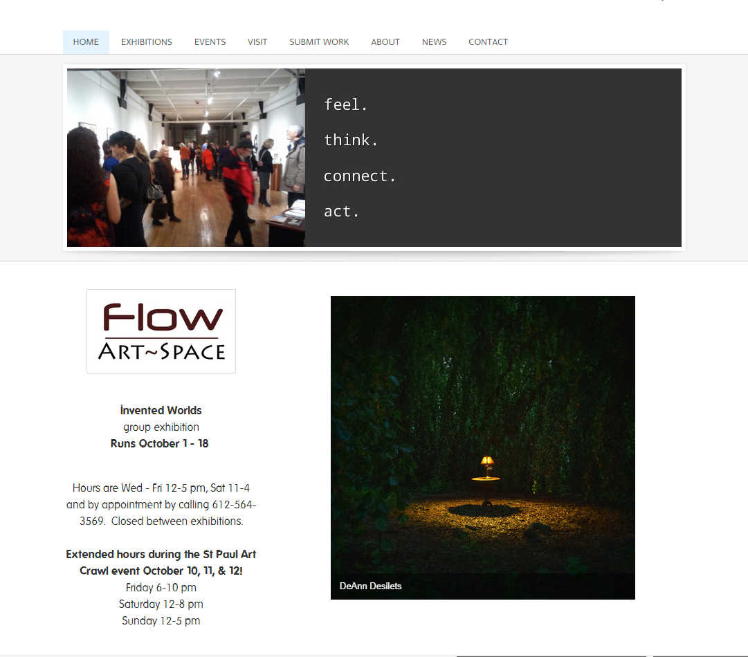 website page