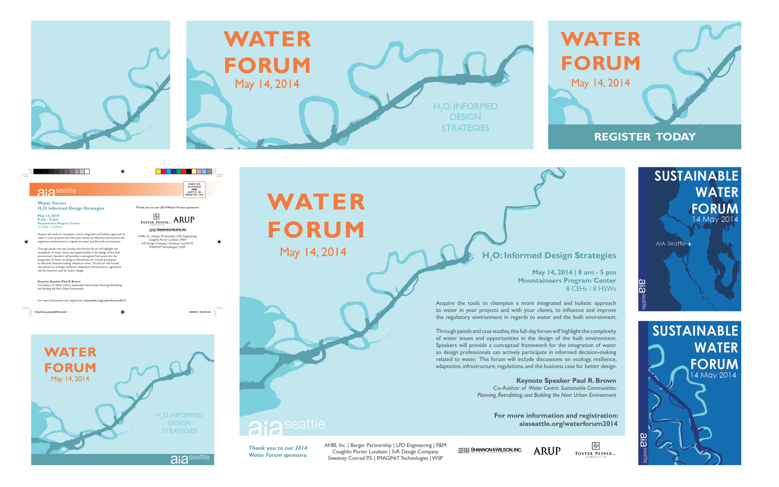 Water Forum print and web graphics
