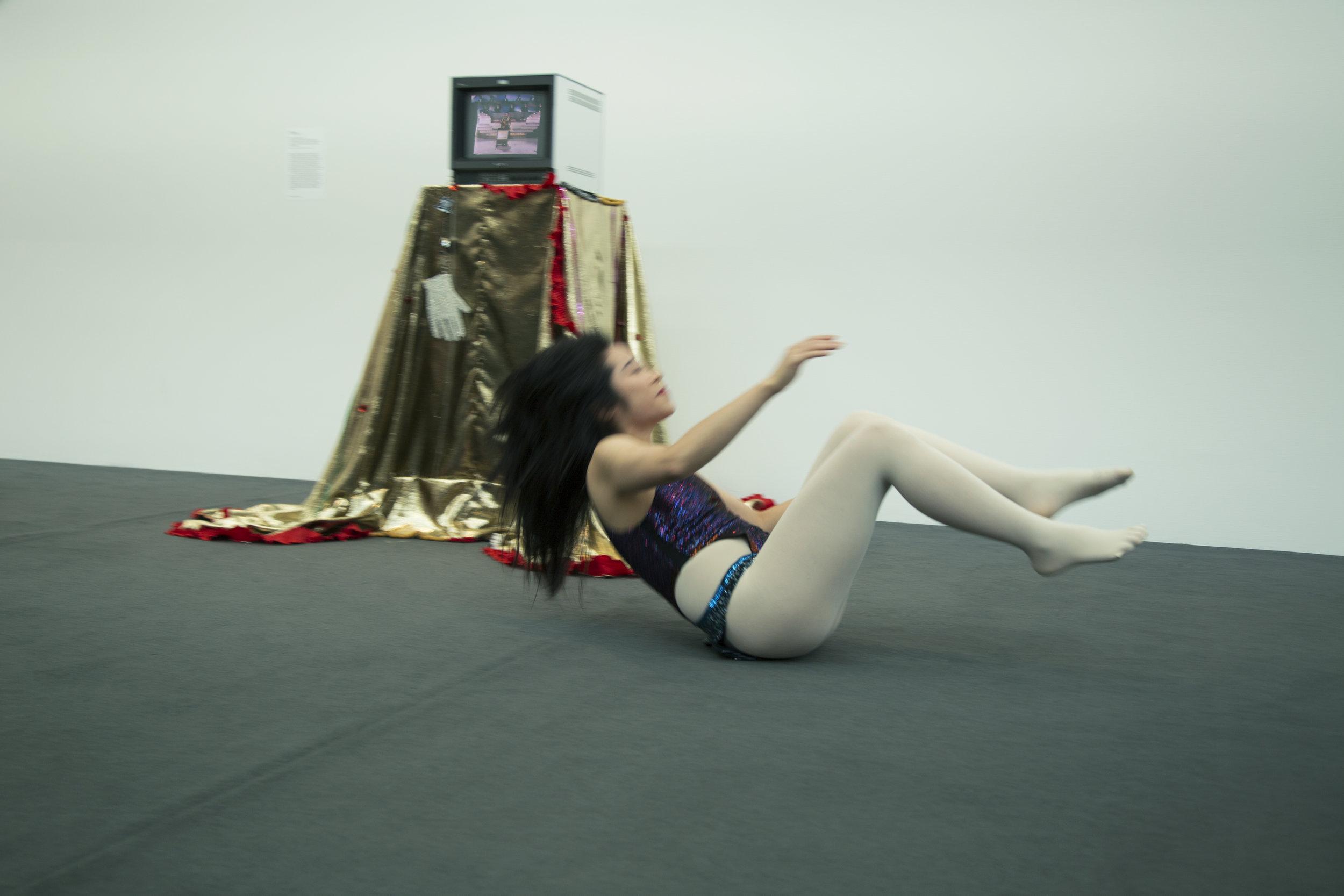 mary katrantzou bodysuit,tights from  tV  archive