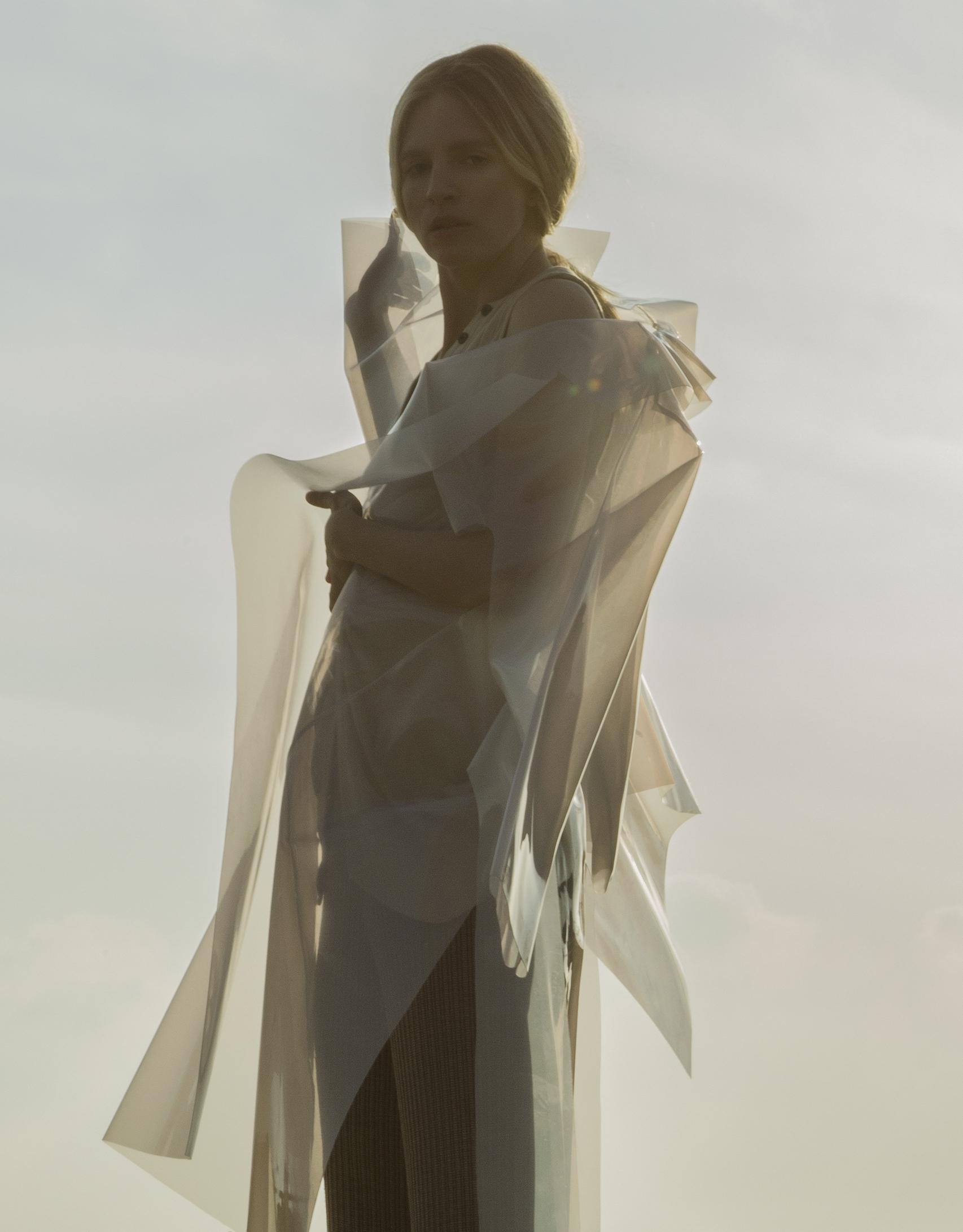 coat  Melitta Baumiester , ribbed knit tank top  Lavish Alice , ribbed knit pants Designer Remix