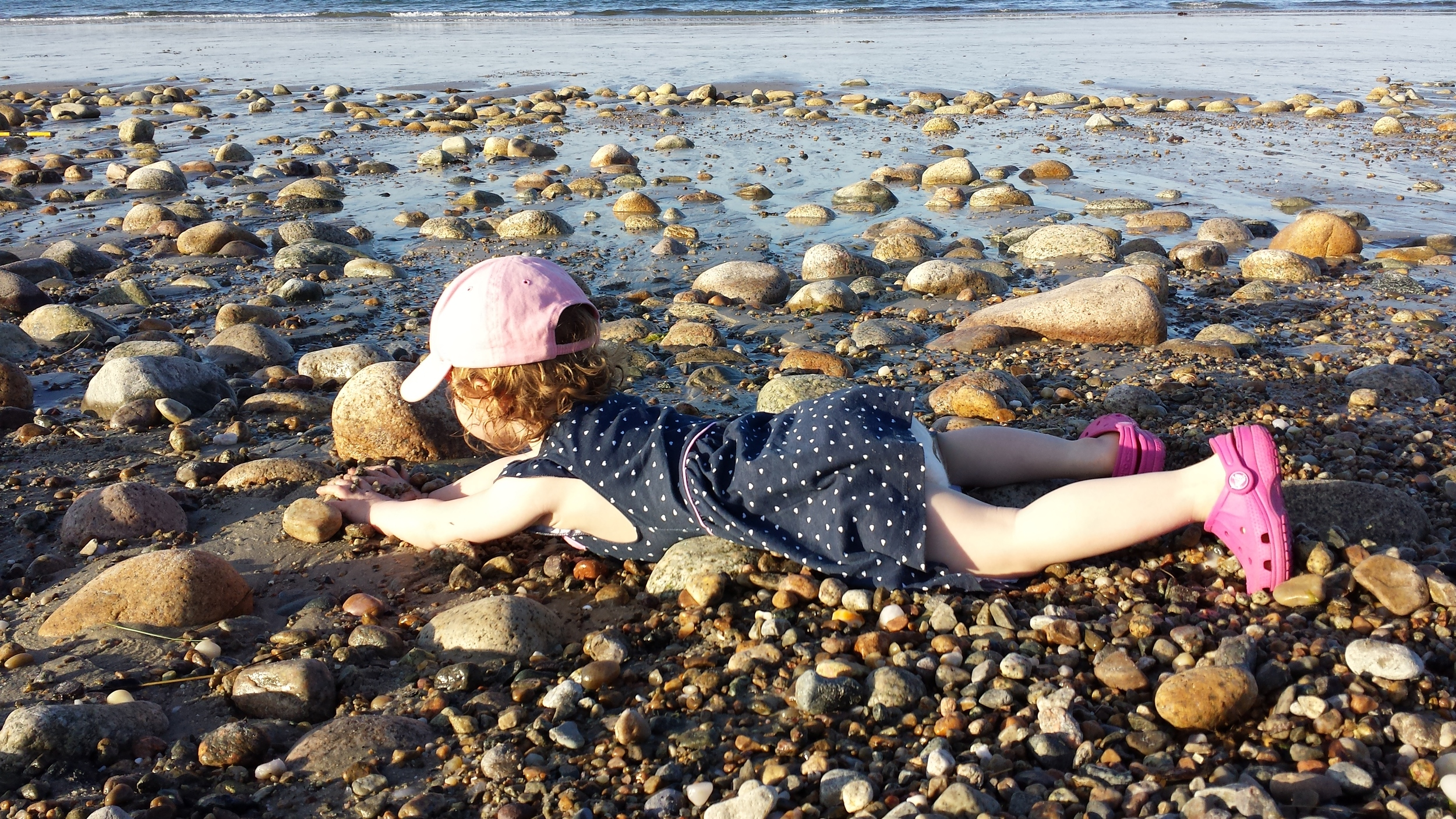 My child, licking algae off of rocks -_-