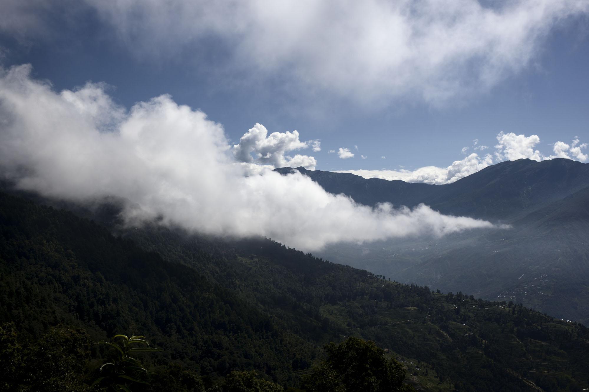 Overview Sindupalchowk District, Nepal. July 28, 2015
