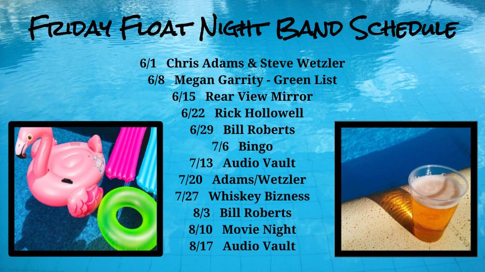 Join us each Friday night beginning June 1 for fun at the pool.