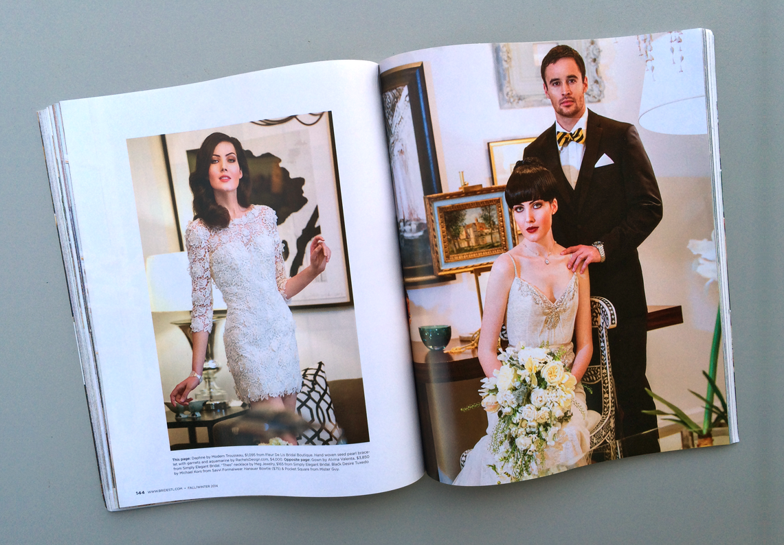 We enjoyed providing the flowers for the St. Louis Bride January, 2015 issue.