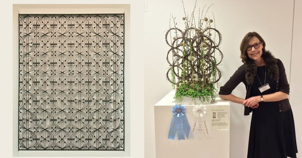 Melinda's first contribution to Art In Bloom 2015 at the St. Louis Art Museum.