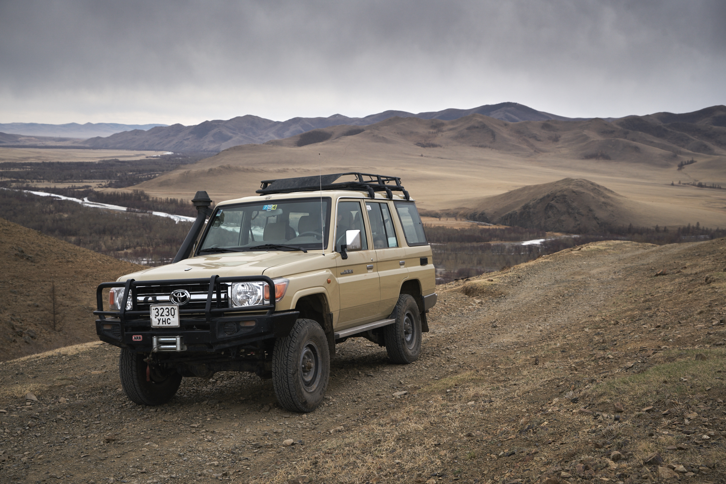"TOYOTA LAND CRUISER 76 SERIES, MECHANIC, DIESEL, TOUGH OFF ROAD CAPABILITY. ALL OUR CARS ARE EQUIPPED  WITH ""ARB"" BUMPER AND WINCHES. WE'LL PROVIDE TWO EXTRA TIRES. ROOF TENTS ARE OPTIONAL AND IT CAN BE INSTALLED IN EVERY VEHICLE. AND WE HAVE ""LUGGAGE STORAGE SERVICE"" WITH FREE OF CHARGE."