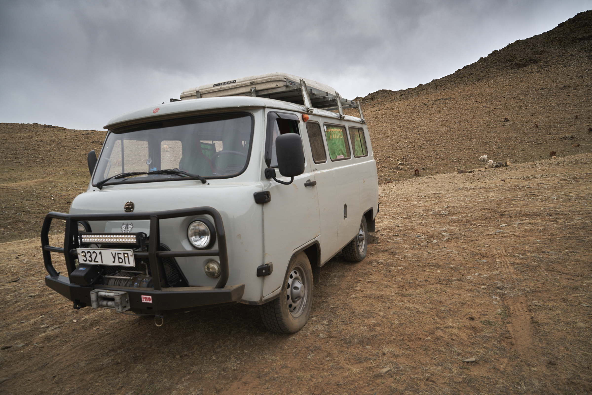 "UAZ, RUSSIAN VAN, 2014, PETROL, MECHANIC, 6-8 WILL FIT IN, GREAT OFF ROAD VEHICLE FOR A GROUP. ALL OUR CARS ARE EQUIPPED  WITH ""ARB"" BUMPER AND WINCHES. WE'LL PROVIDE TWO EXTRA TIRES. ROOF TENTS ARE OPTIONAL AND IT CAN BE INSTALLED IN EVERY VEHICLE. AND WE HAVE ""LUGGAGE STORAGE SERVICE"" WITH FREE OF CHARGE."