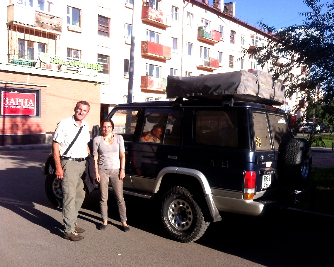 Mongolia has beautiful landscape and we had great time. Thank you drive Mongolia for installing roof tent on Prado late at night. Vehicle and roof tent were reliable and in good condition. - Karin Schreiner, Germany