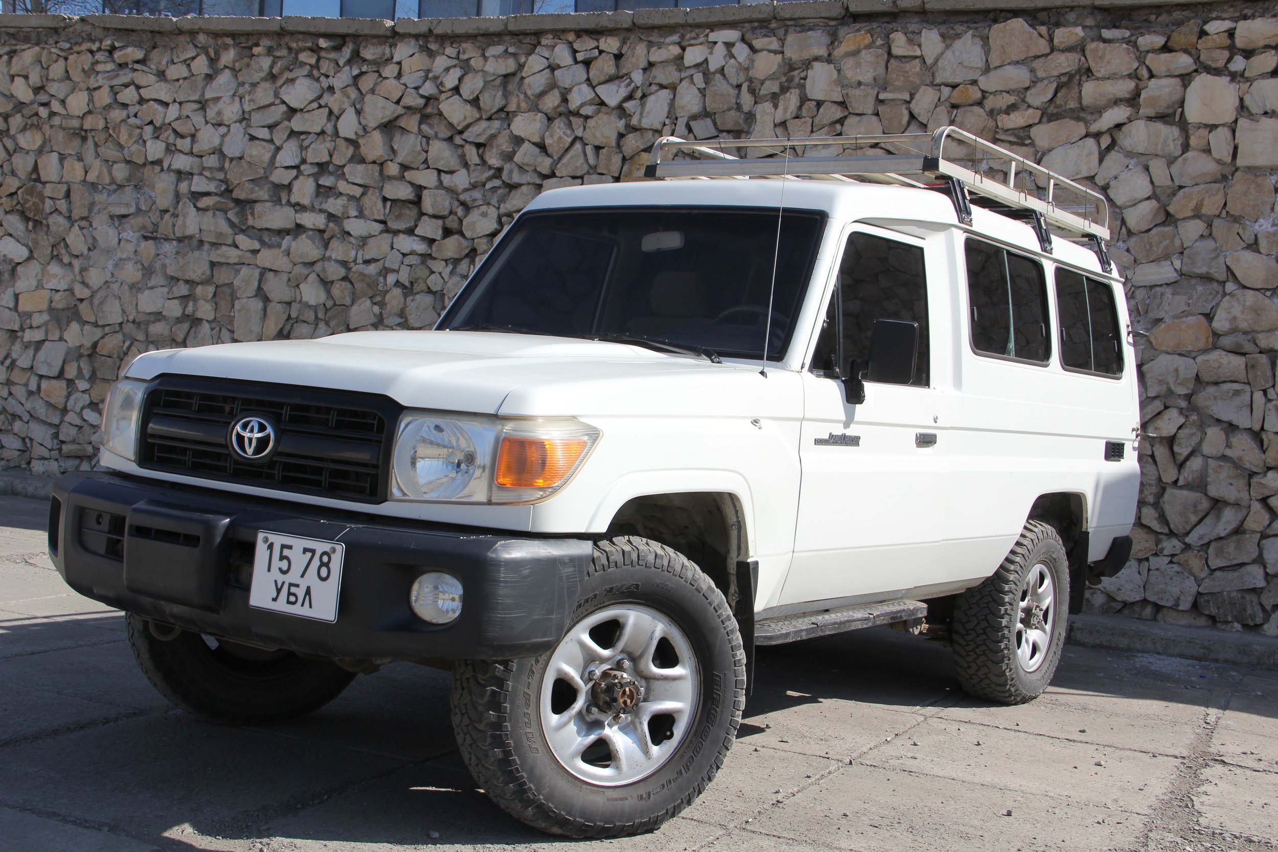 Toyota Land Cruiser 78 series Diesel, Manual Transmission, left wheeled, with Tough Off roading capabilities - All our vehicles are equipped with ARB bumper and winches.We will provide 2 extra tires along with Tool kit with necessary spare parts, Camping kit, Cooking gears, gas stove, water container, pots and pans, forks, knives and cutlery.Roof tents are available and can be installed.
