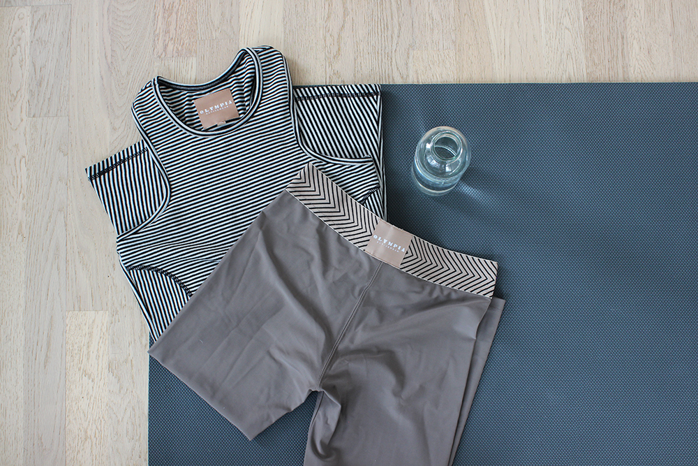 Olympia Activewear top & leggings (c/o  Pacifica Boutique )