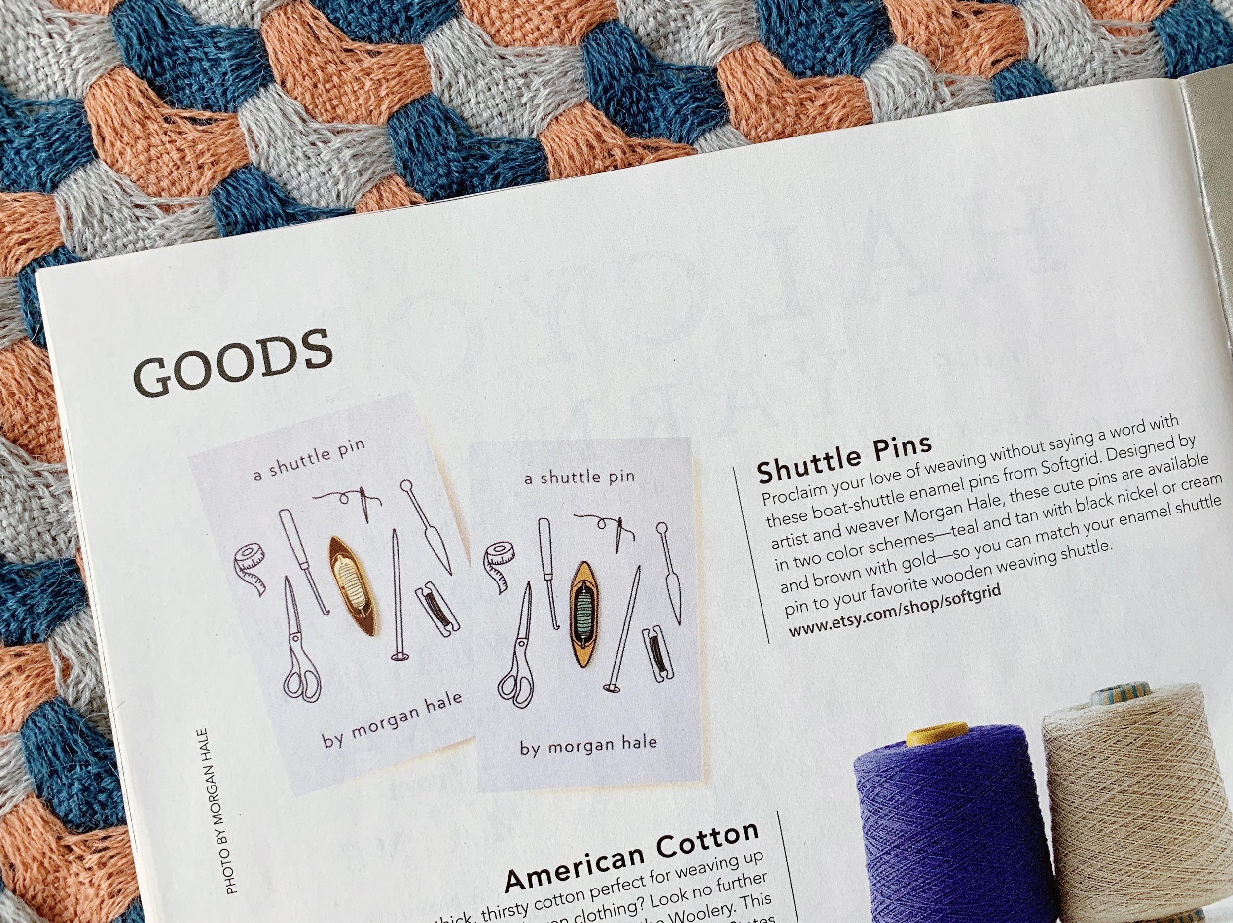Featured in March/April 2019 issue of Handwoven Magazine ~ click to purchase the issue!