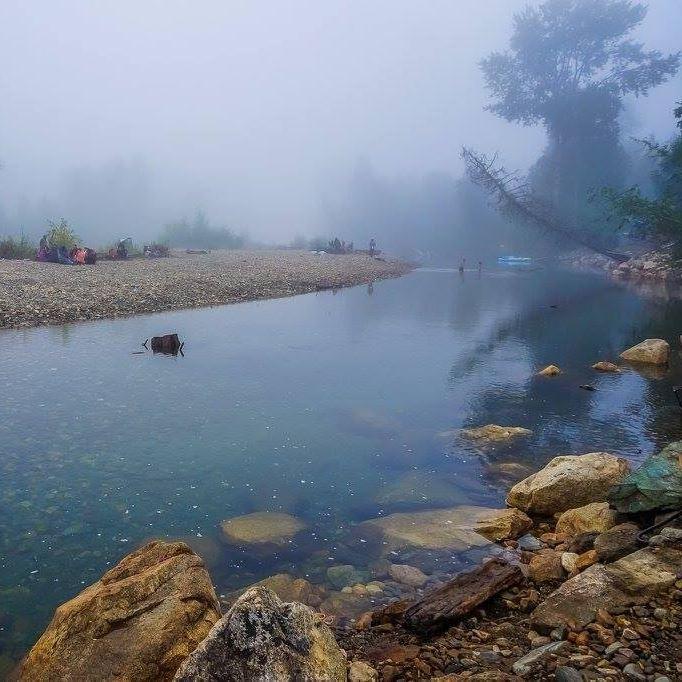 Fog Descends upon the beach. Photo by Treesa Aki