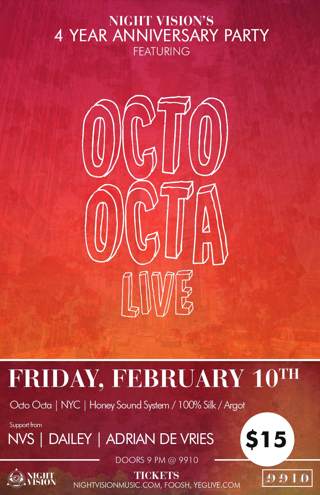 Octo Octa in Edmonton at 9910, Night Vision