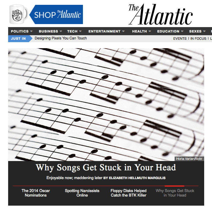 Adapted from Chapter 4 of Elizabeth Hellmuth Margulis'  On Repeat: How Music Plays the Mind  .