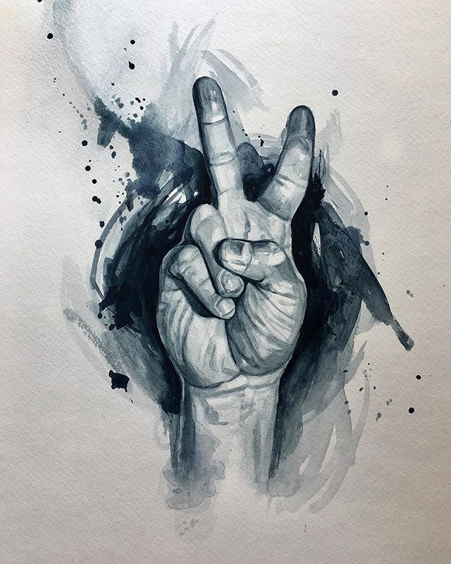 All we are saying...... #peace #peaceout #givepeaceachance #allwearesaying #hand #watercolor #watercolorpainting #art #fineart #paynesgrey  @art @art_spotlight @metmuseum @paintguide @paintings.daily @art_motive @juxtapozmag @watercolor.art.sketches @watercolor.blog @watercolor_art @watercolour_channel @trekell_art_supplies @rosemarybrushes @gamblincolors @windsor.newton