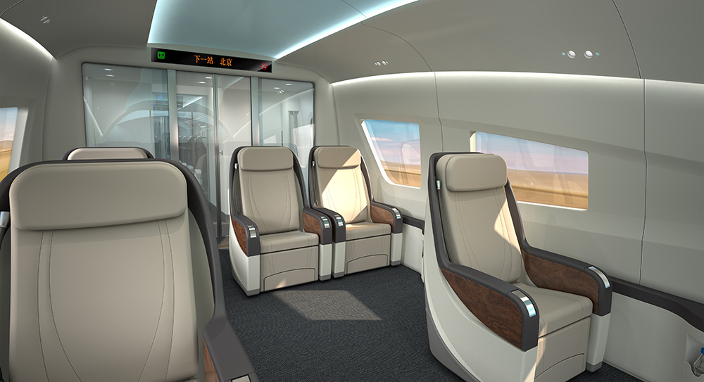 IDA was commissioned in 2013 by CNR CRC to design its first in-house high speed train. Three classes of interior were created by IDA for the project; VIP Class, First Class and Second Class.