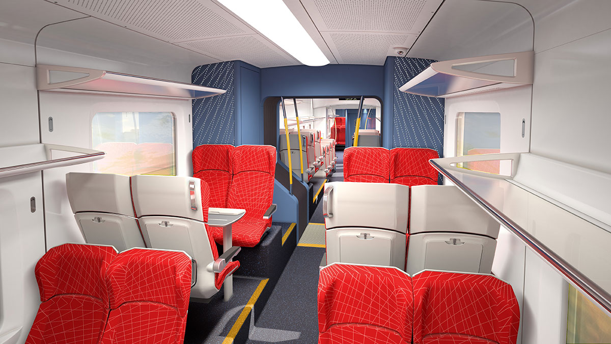 IDA created a clean, comfortable and functional interior design for the Macedonia EMU/DMU's