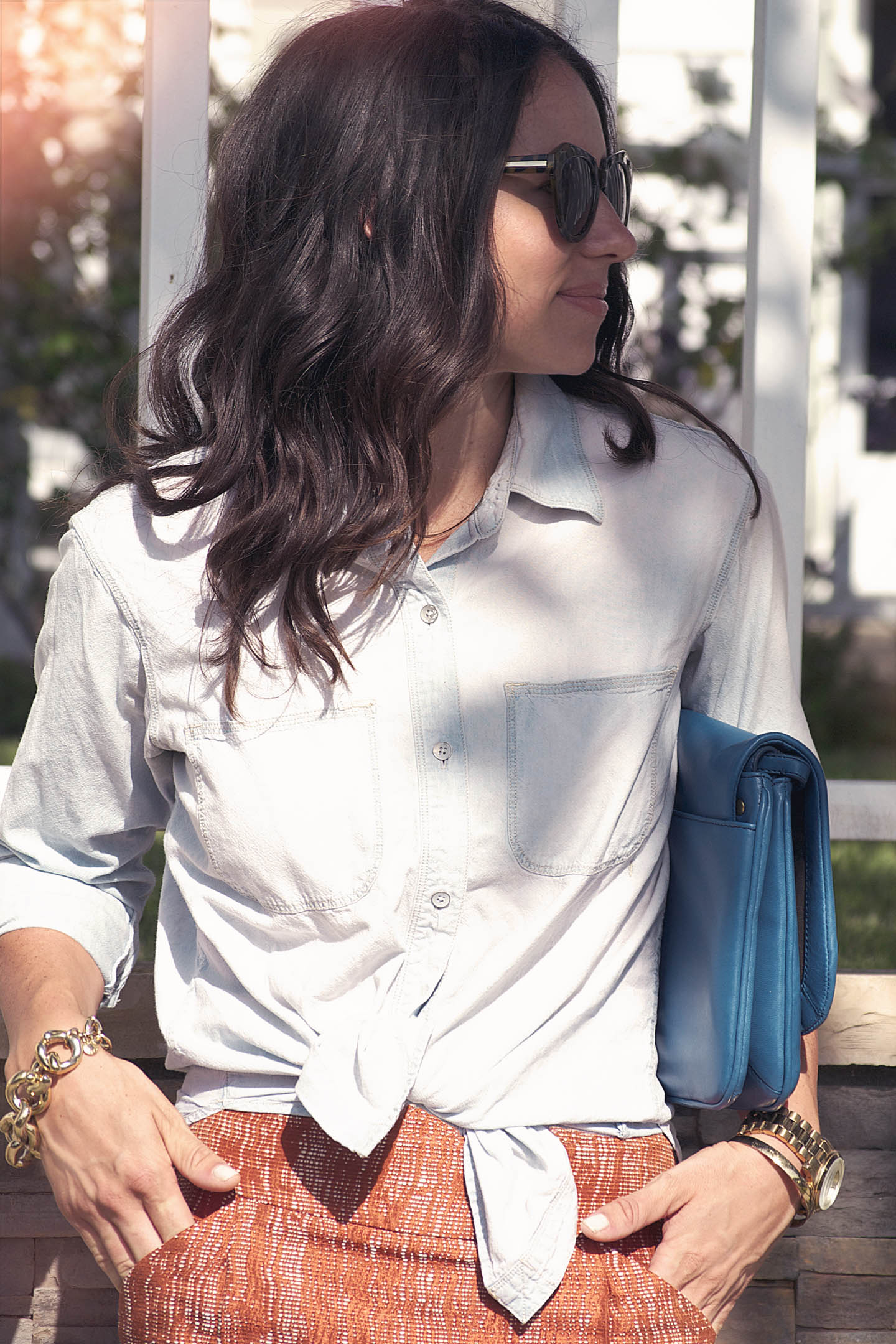 Knotted Chambray