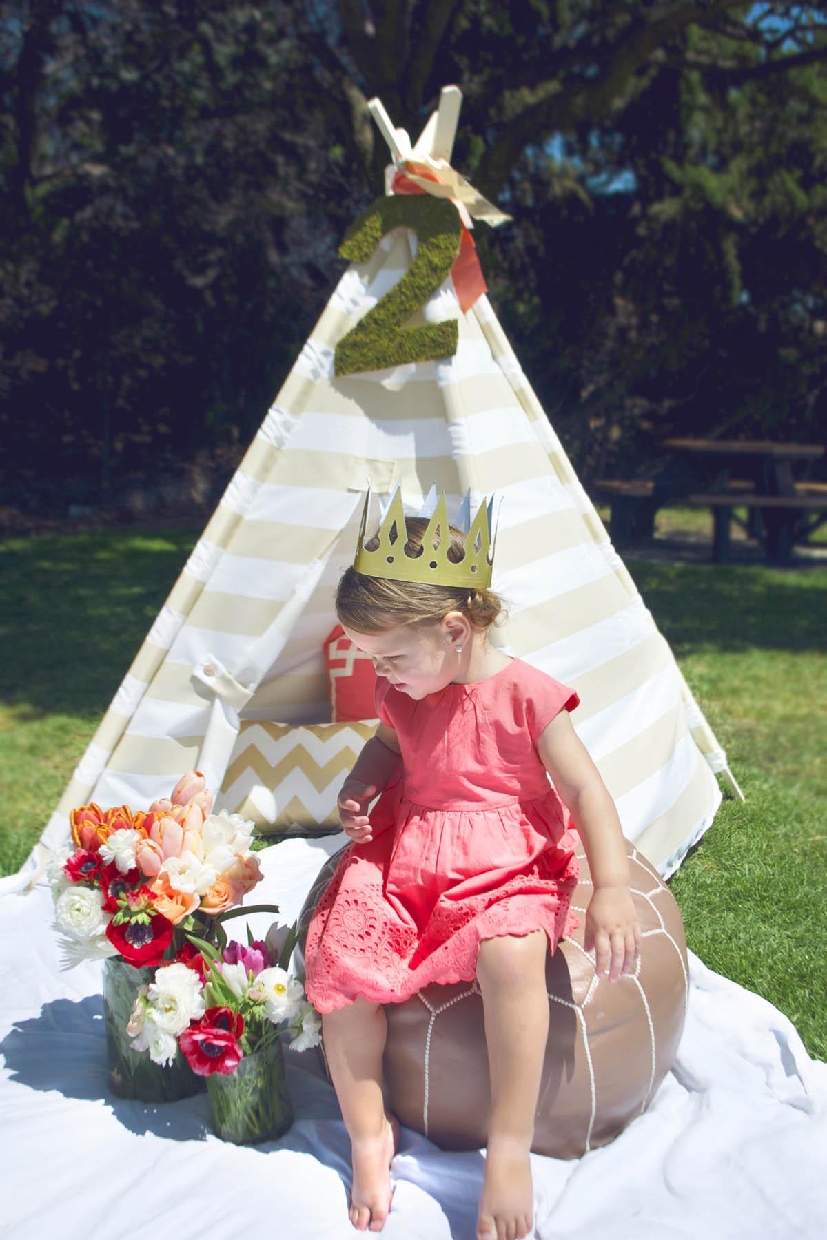 two year old princess picnic
