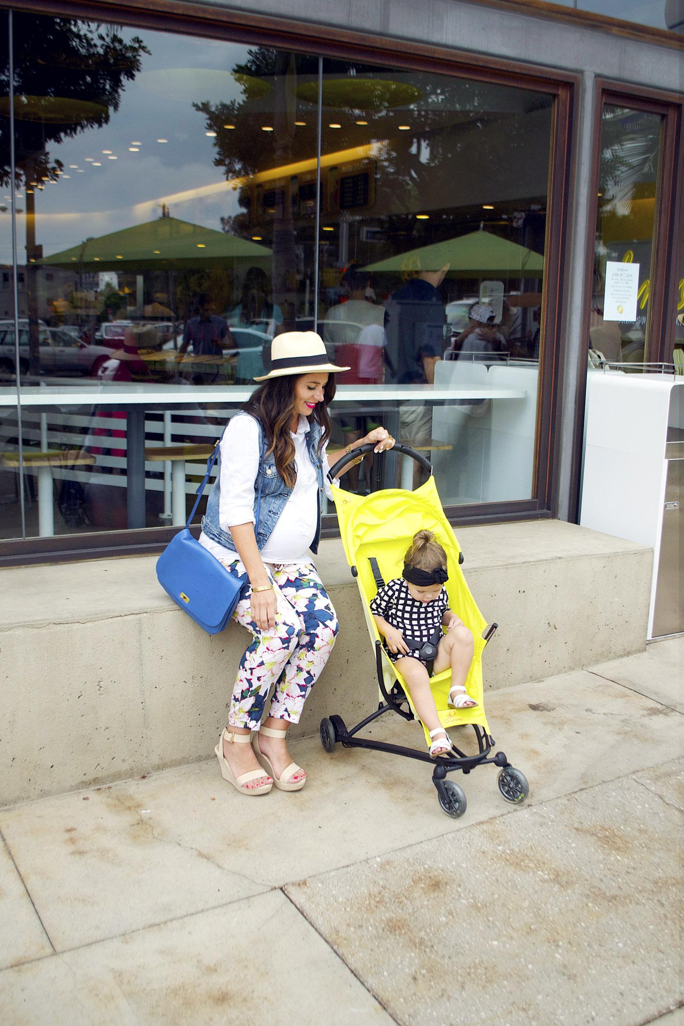 Quinny Yezz yellow stroller