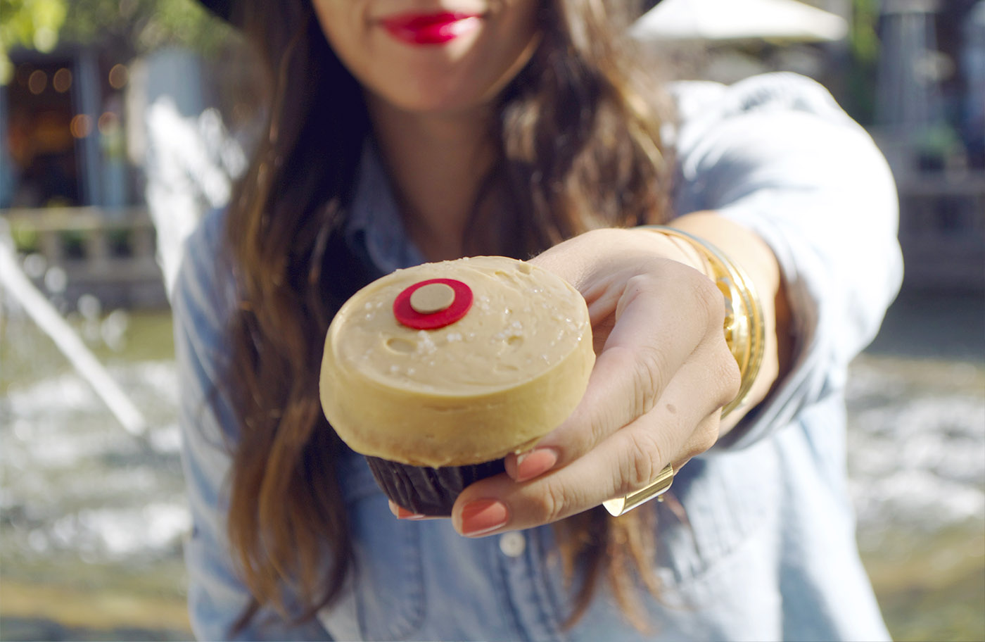 Salty Caramel Sprinkles Cupcake