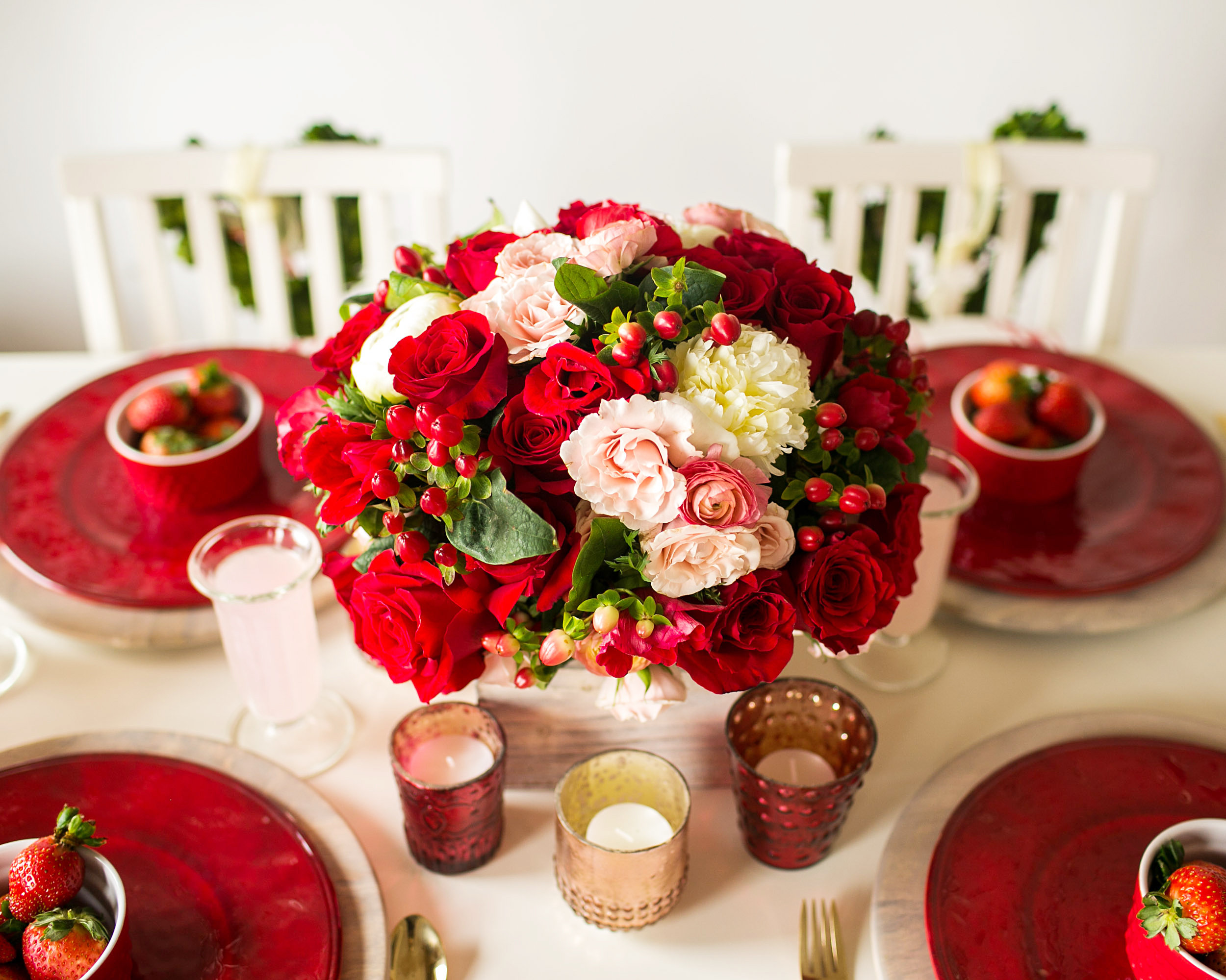 valentine's day table decor