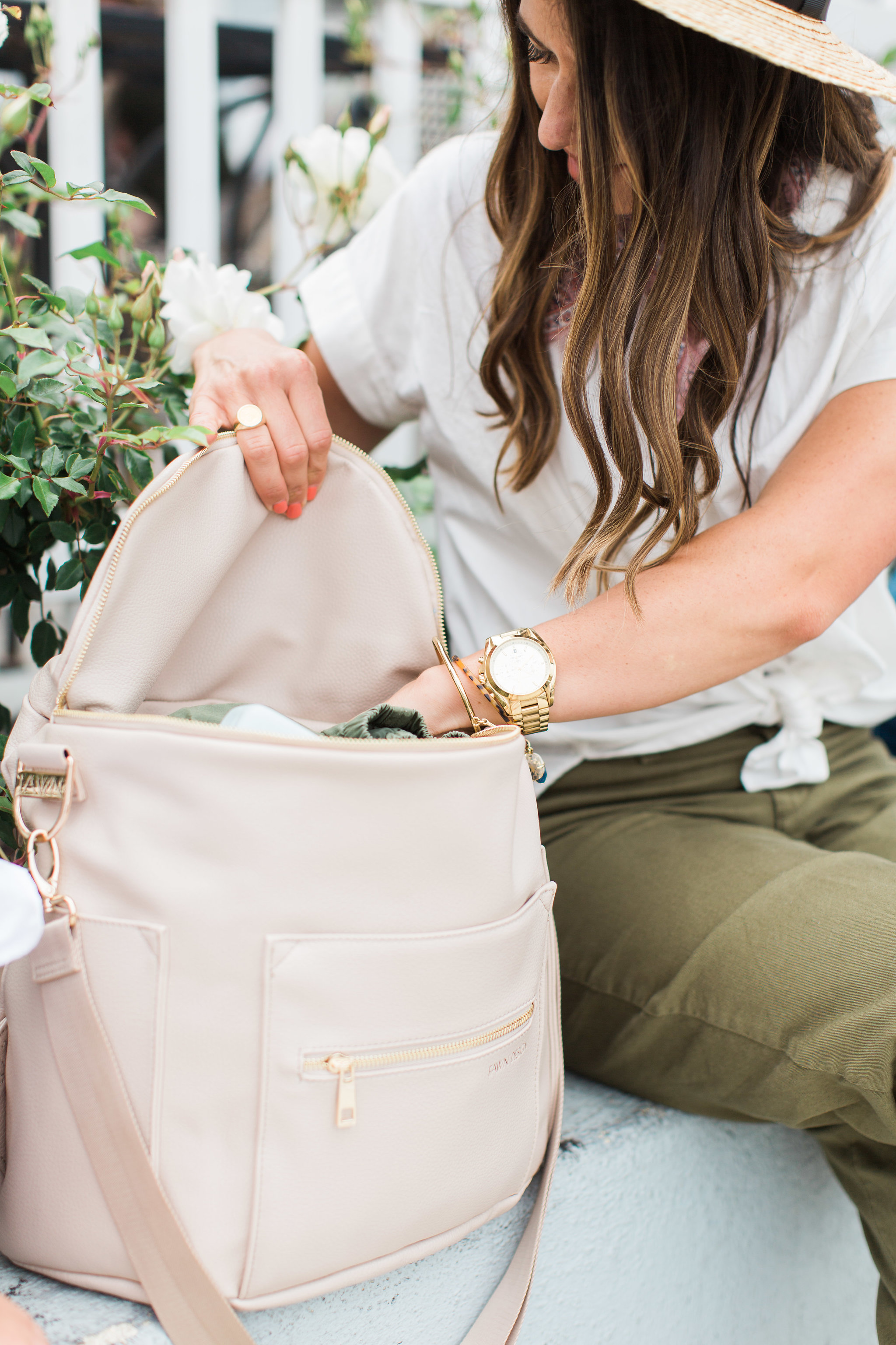 fawn design Bloom diaper bag