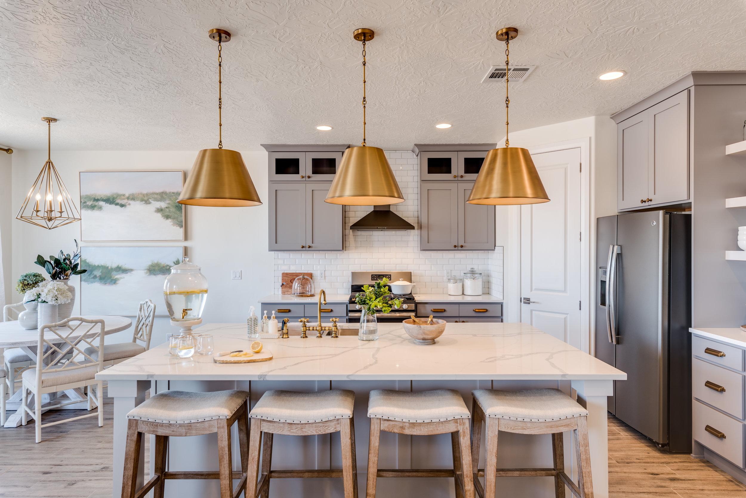 vintage modern home decor with modern kitchen