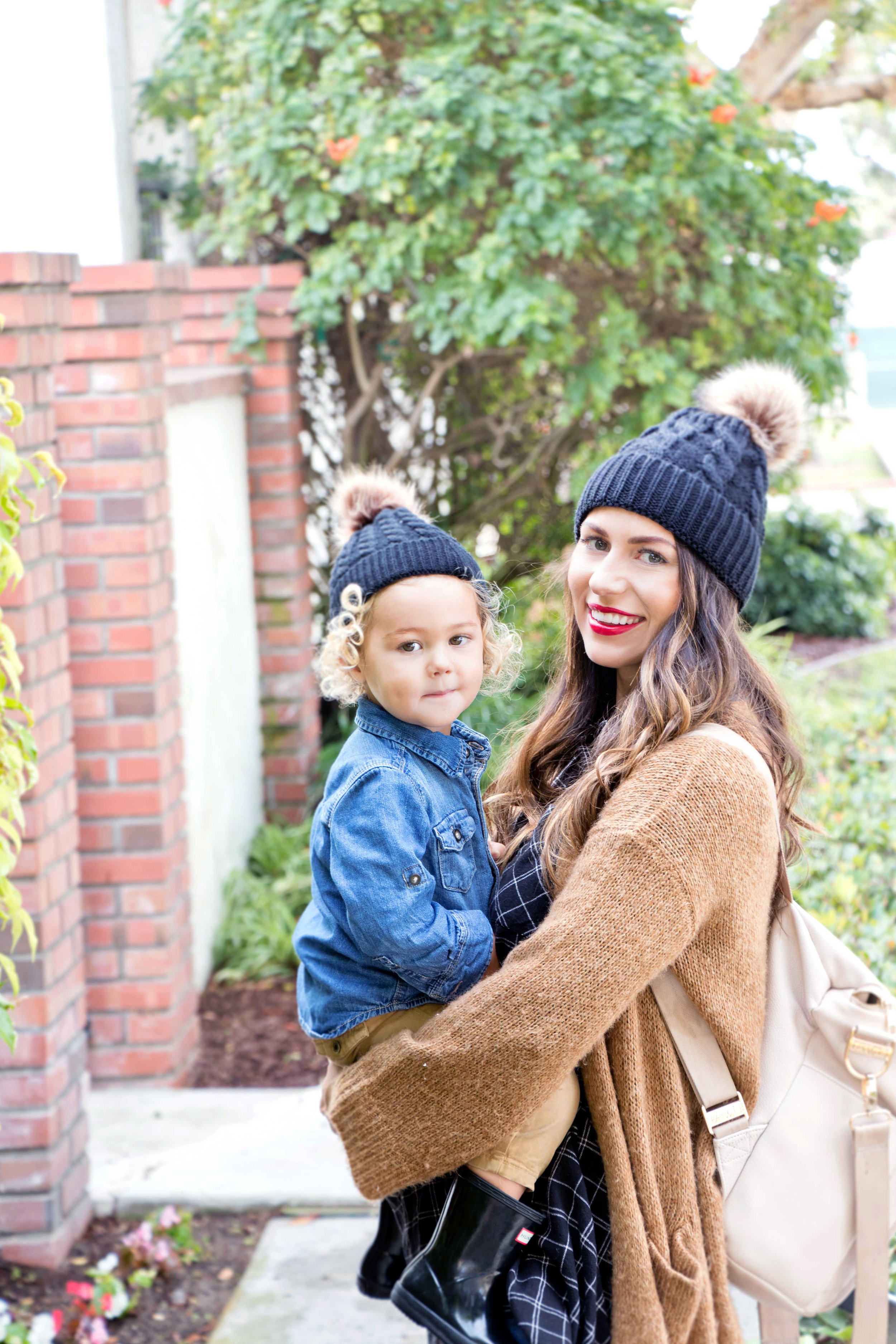mommy and me matching beanies for winter