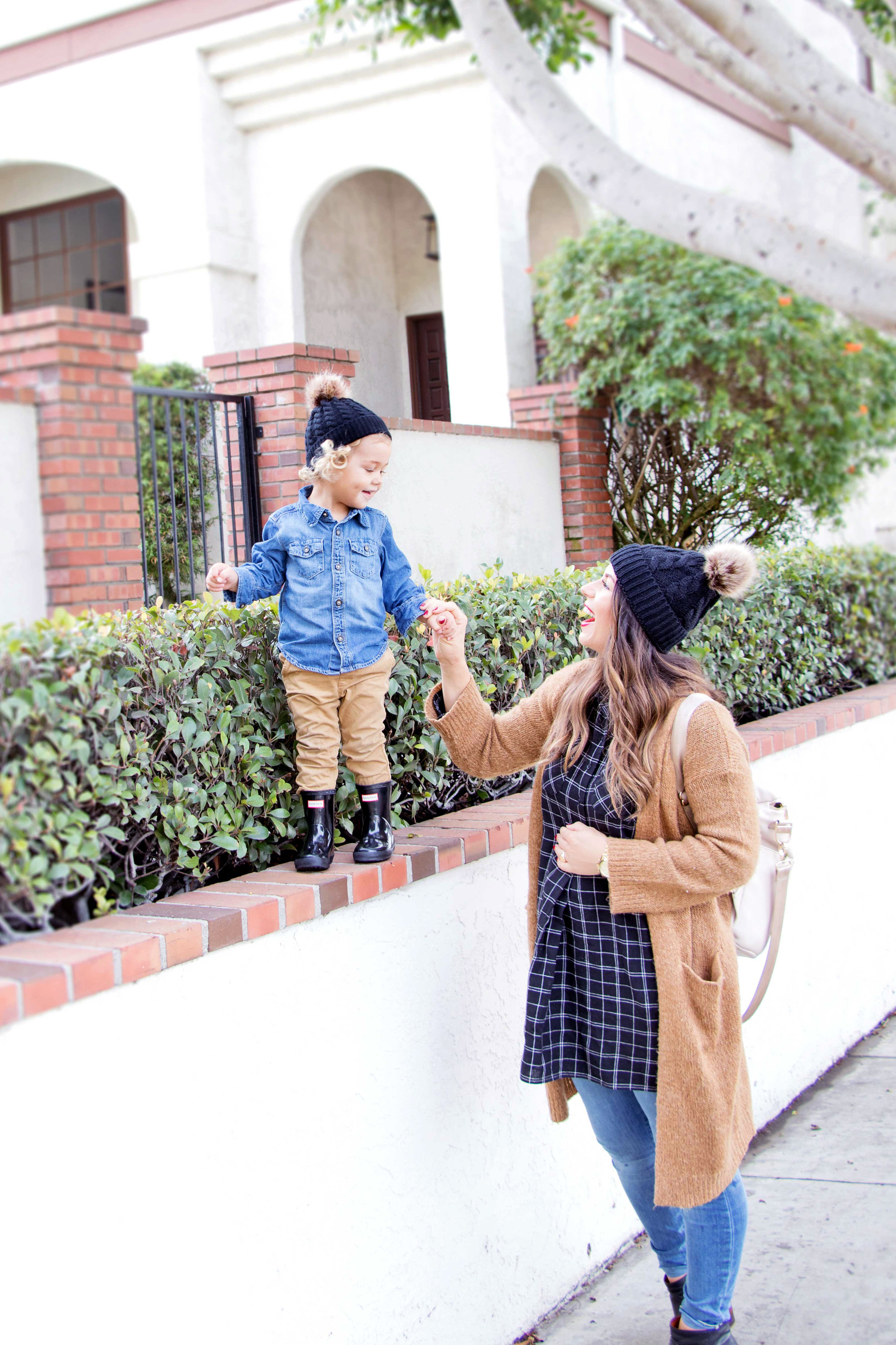 mom and toddler winter fashion