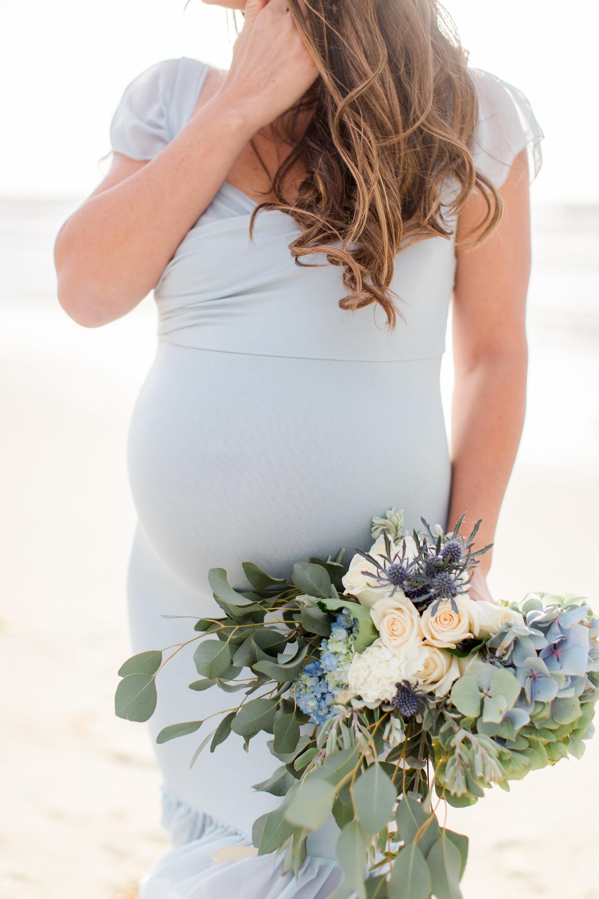 maternity photos on the beach