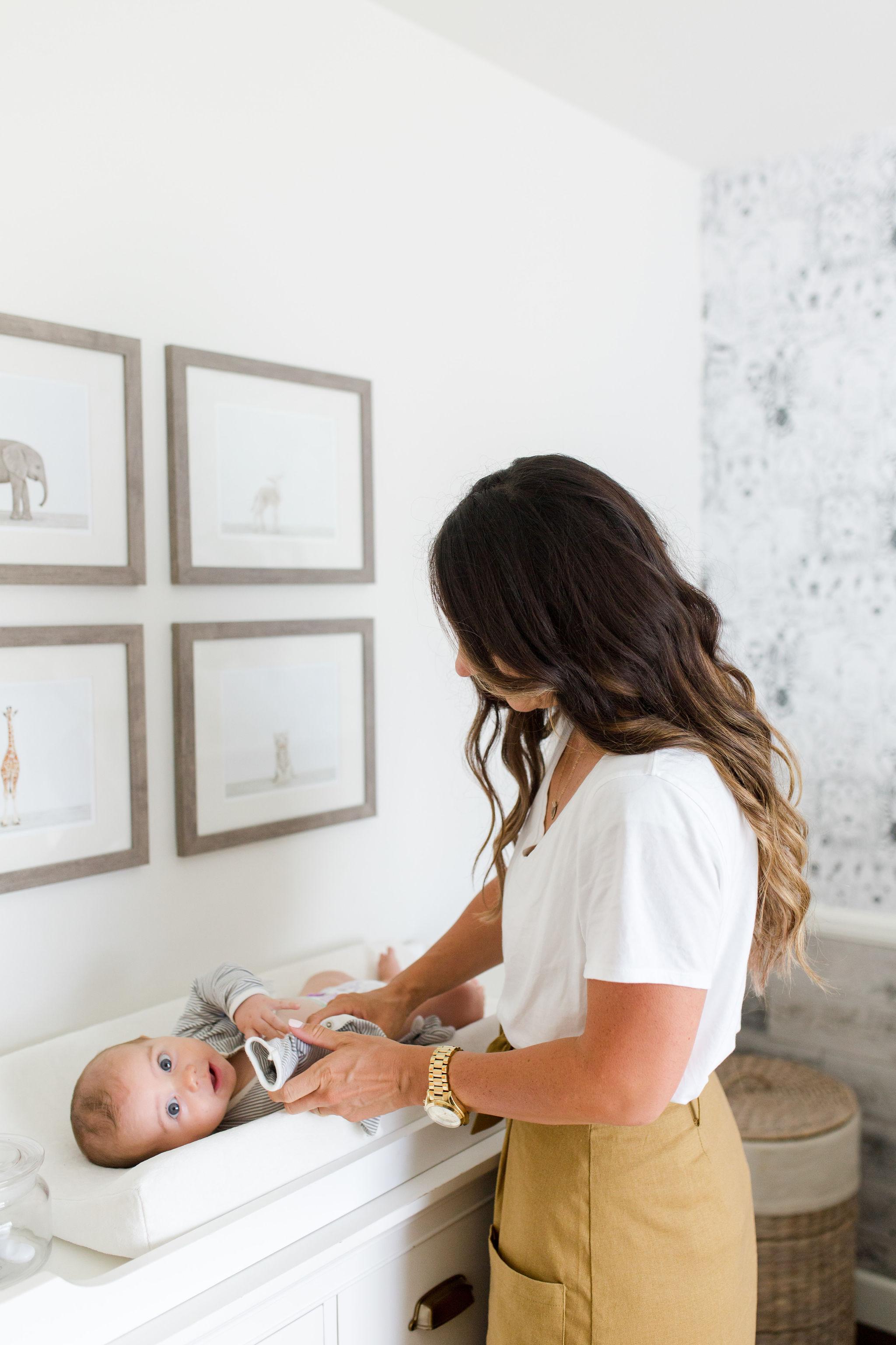 Baby Boy White Nursery design