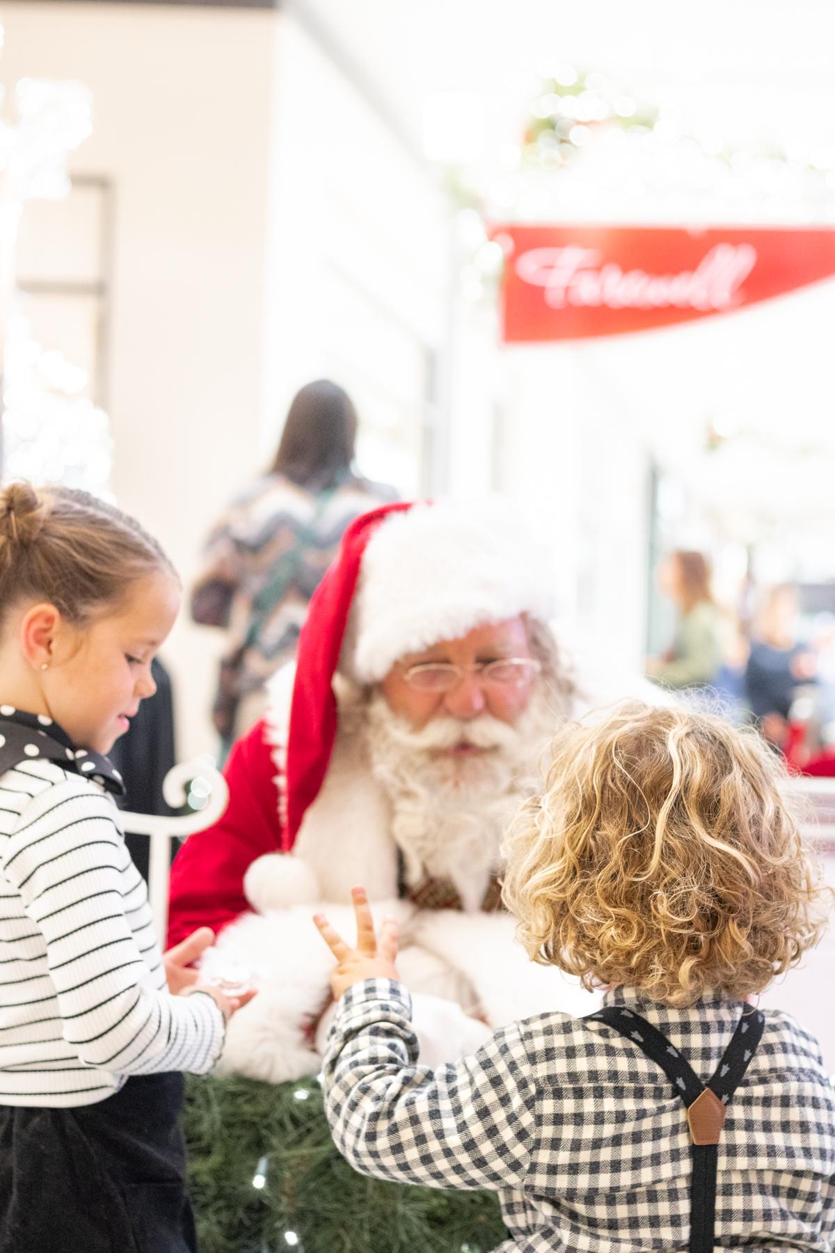 visiting Santa at Del Amo Mall