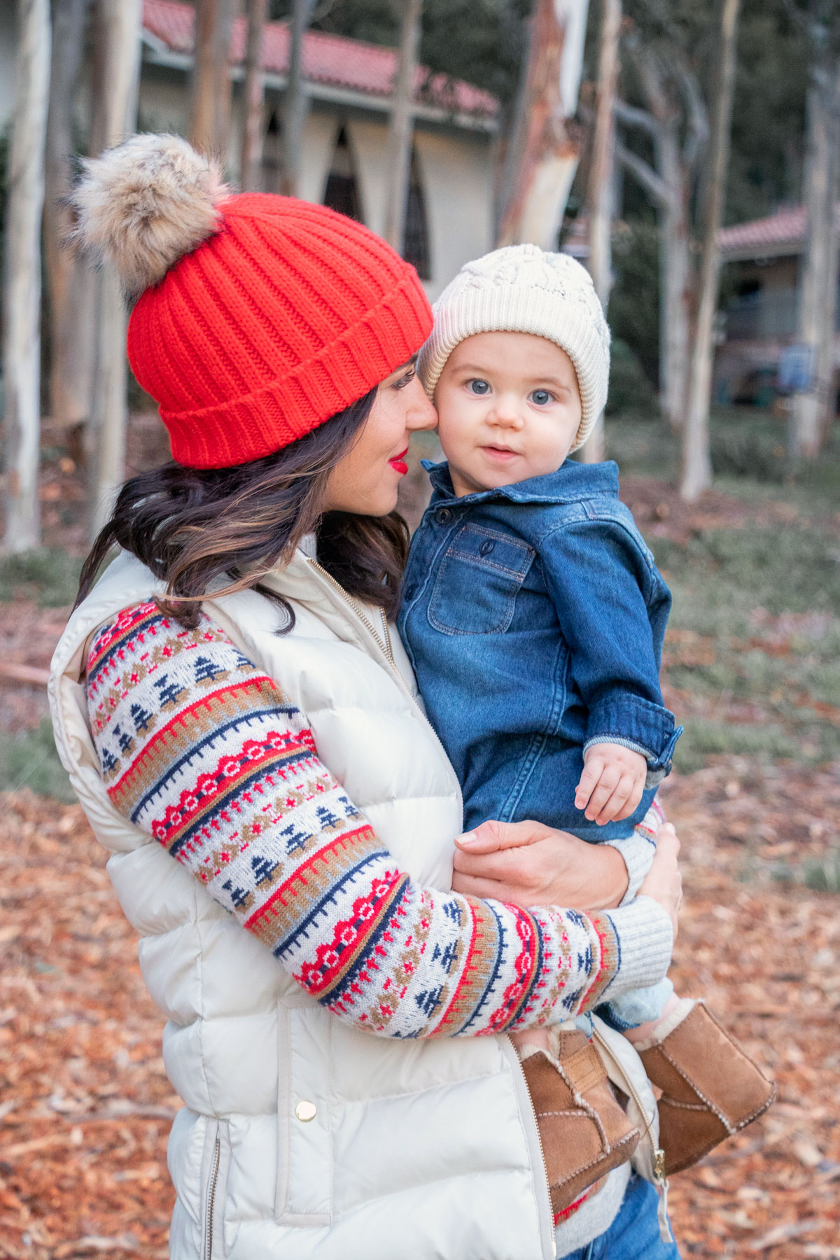 mommy and baby winter style