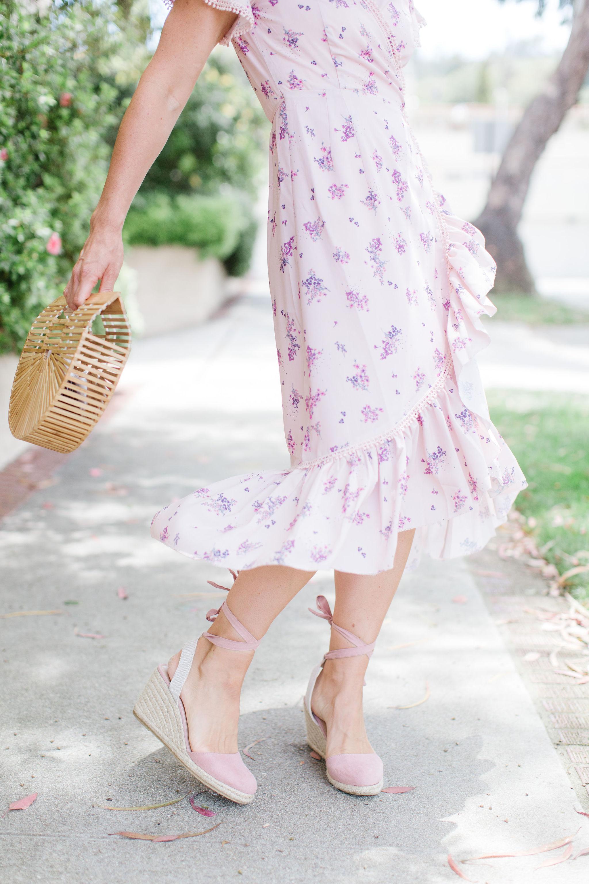floral wrap dress for moms