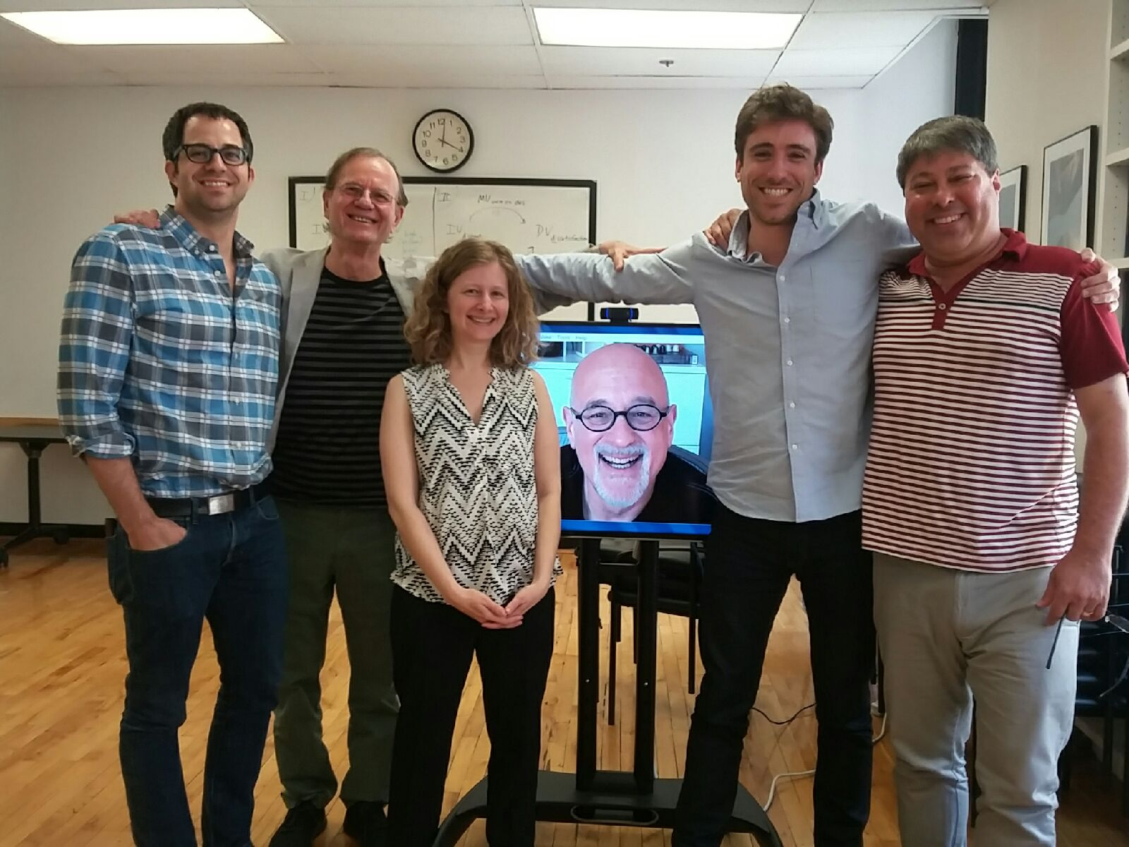 My dissertation committee: (from left) Jay Van Bavel, Yaacov Trope, Marjorie Rhodes, Dan Gilbert, John T. Jost