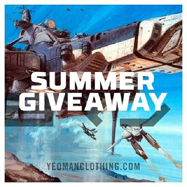 Hello Earthlings! Summer Giveaway is activated_  LIKE OR COMMENT this post to enter_  Random selected winners will receive Yeoman Clothing goods_