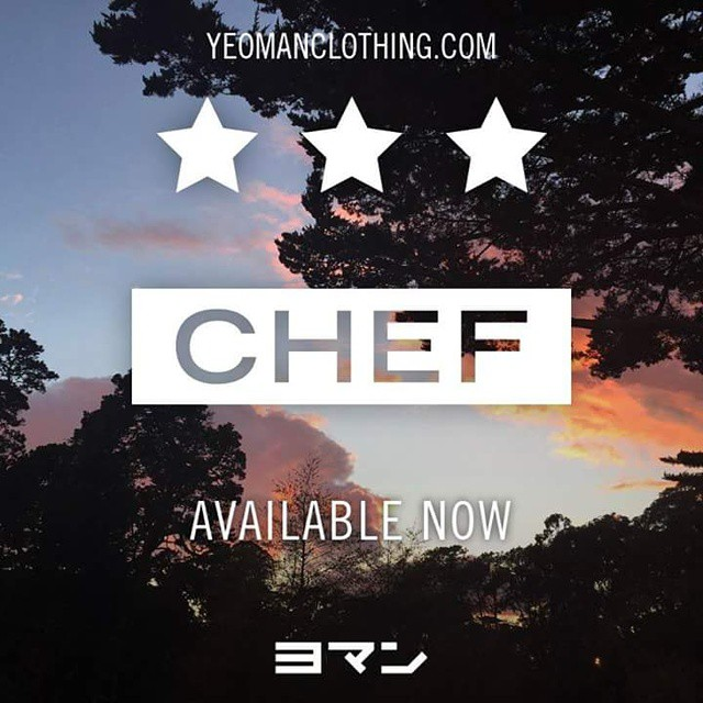 Inspired by the DOPEST shooter on planet Earth,  new CHEF crew neck sweatshirts and t-shirts are now available_  Www.yeomanclothing.com  #MVP #warriors