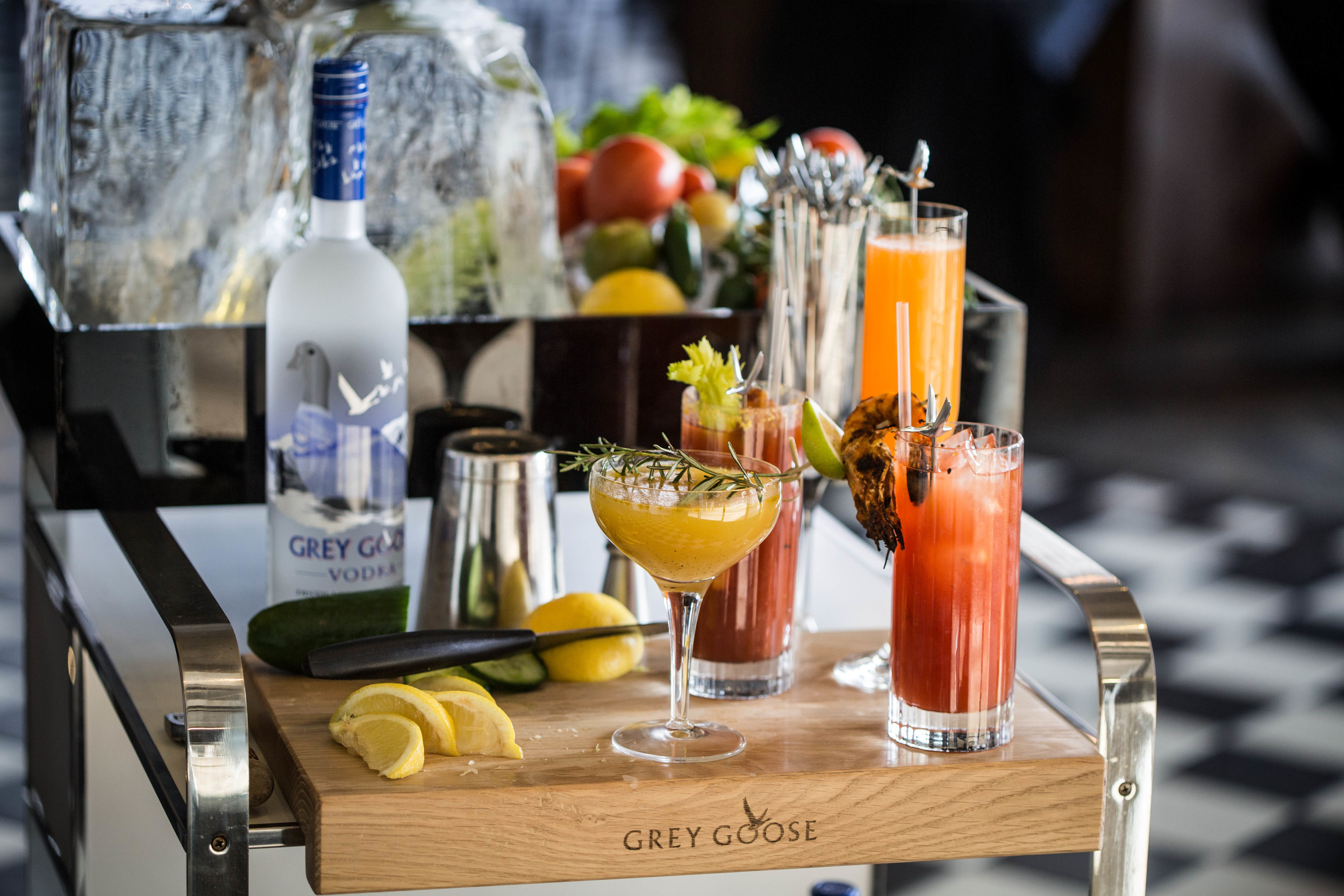 Grey Goose Vodka - Bloody Mary Drinks Trolley
