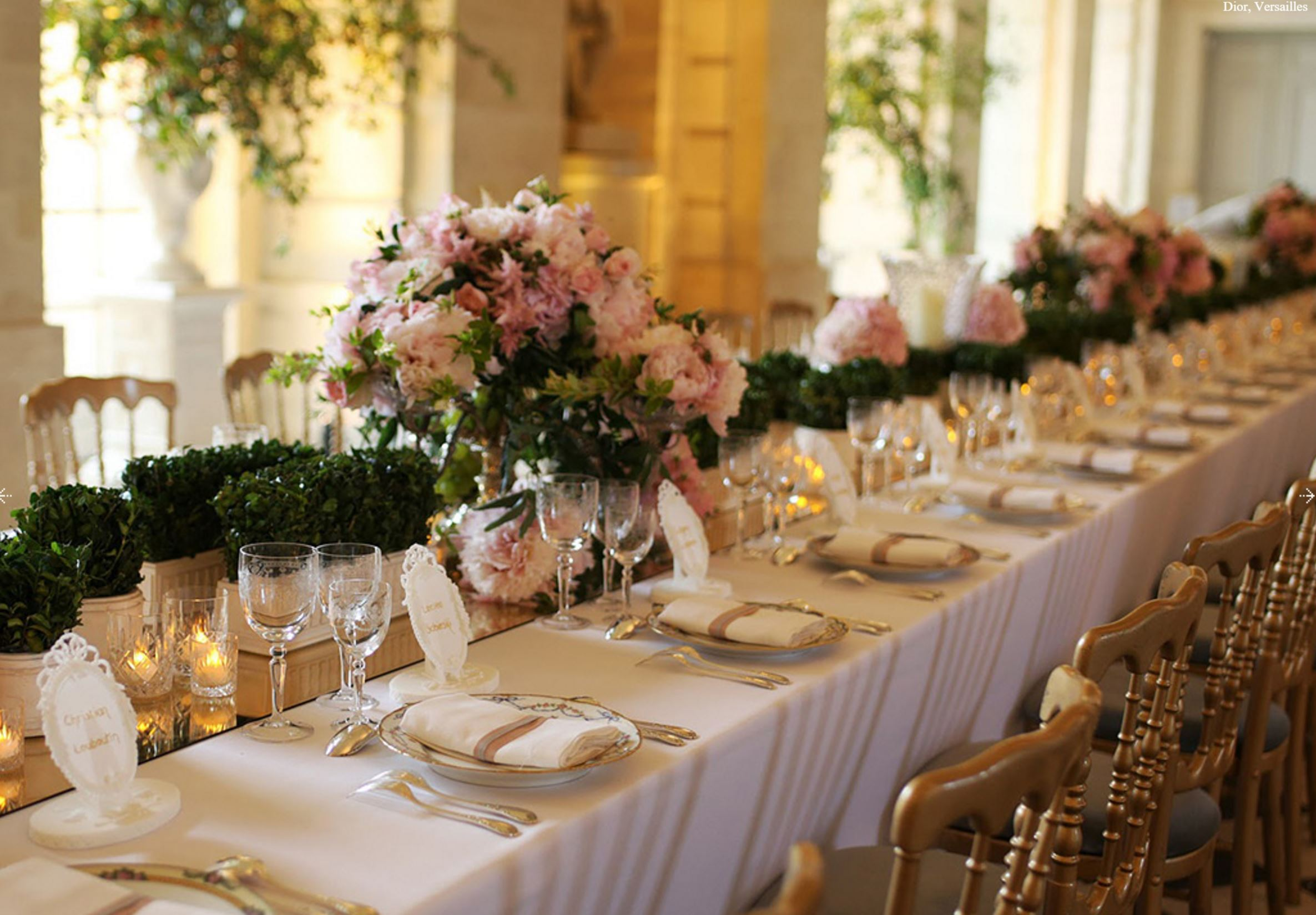 Dior - Centrepieces - Versailles
