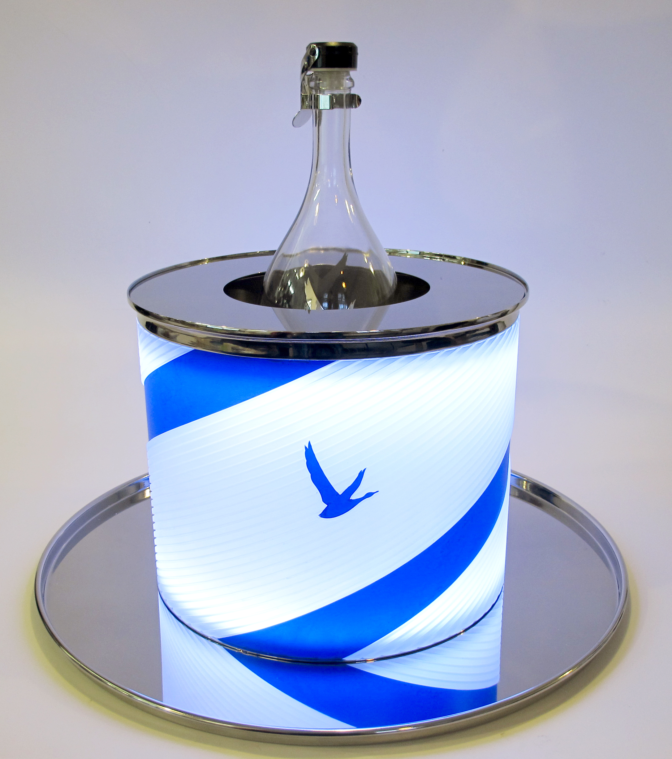 Grey Goose glowing ice bucket