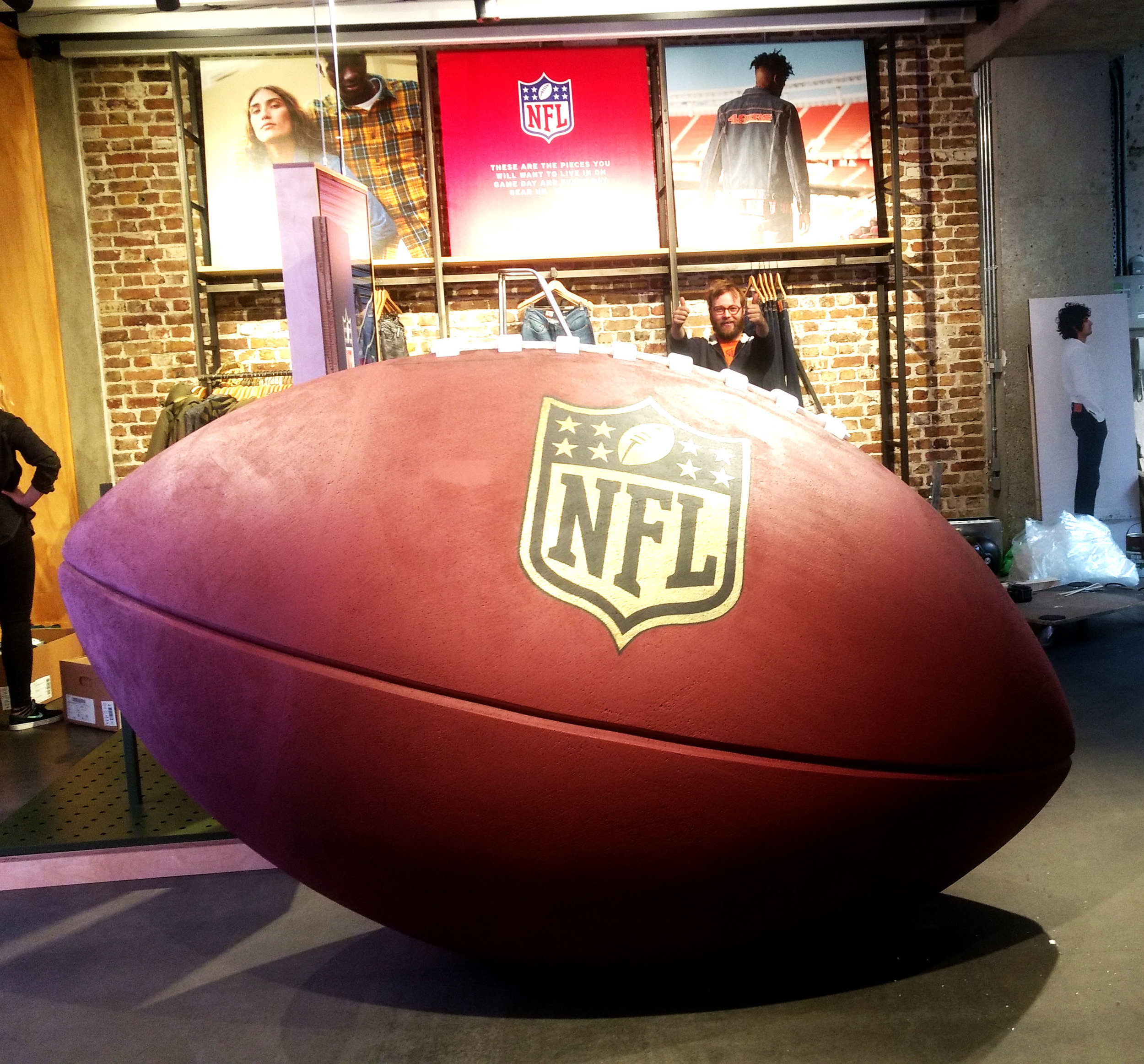 Levis giant NFL football