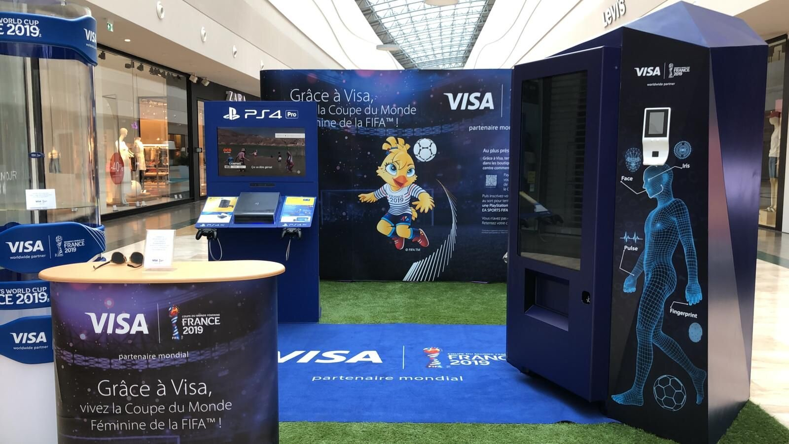 Vending Machines for Visa at the Woman's World Cup