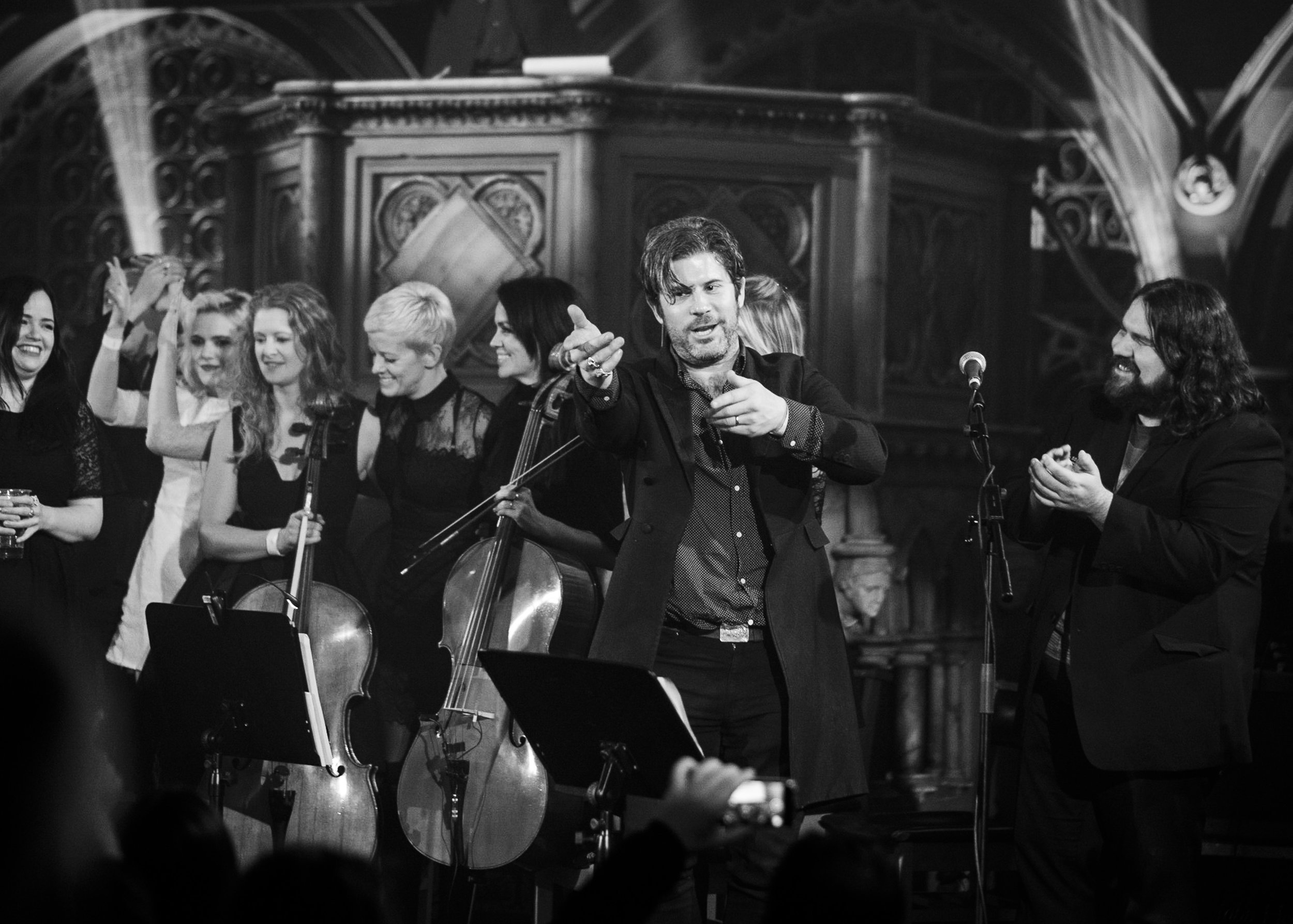 @EdHarcourt put on an amazing night with @themagicnumbers,  @dirtyprettystrings @wearelock and many more at the #unionchapel for @theflyingseagulluk