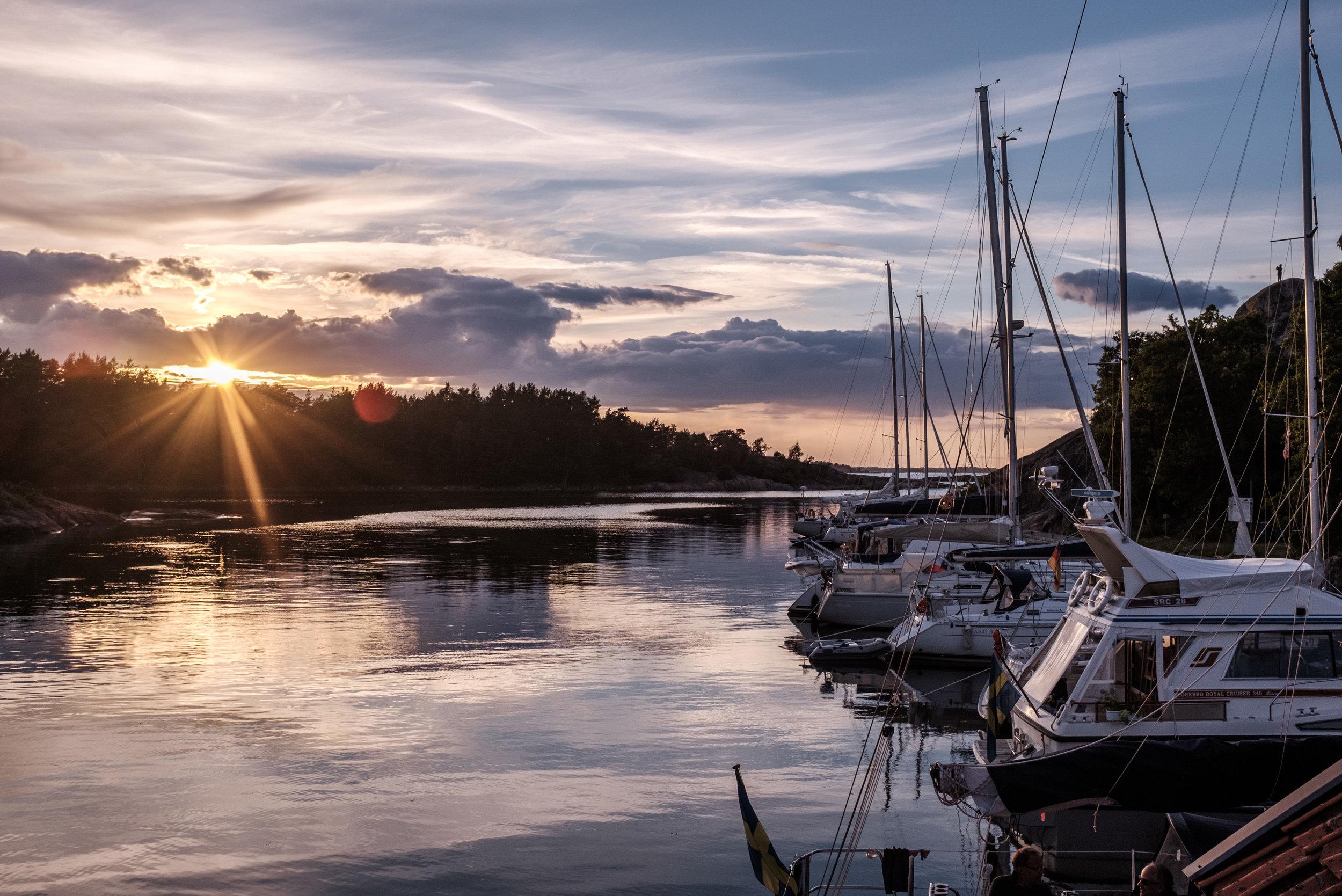 Sunset in Harstena