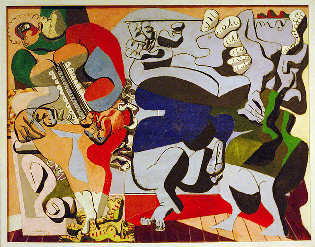 An untitled painting by Le Corbusier.   Image courtesy VKV Visuals Blog.