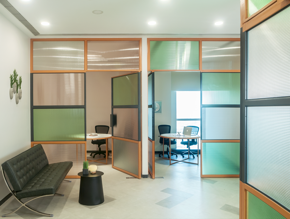 RECEPTION LOUNGE AND MEETING ROOMS BEYOND