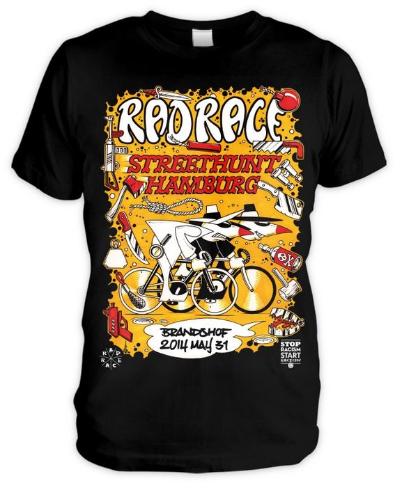 This is the limited RAD RACE Hamburg Brandshof Shirt that we will give away to all volunteers!
