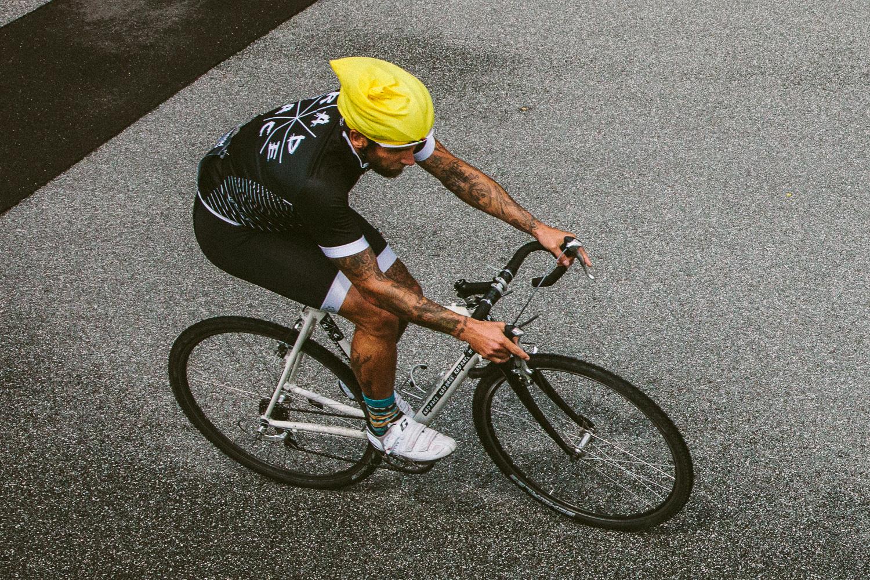 RAD RACE x AURORA Black Jersey worn by RAD PACK team rider Danny Vogel.